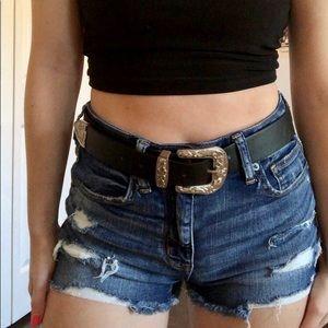 Black Buckle Belt